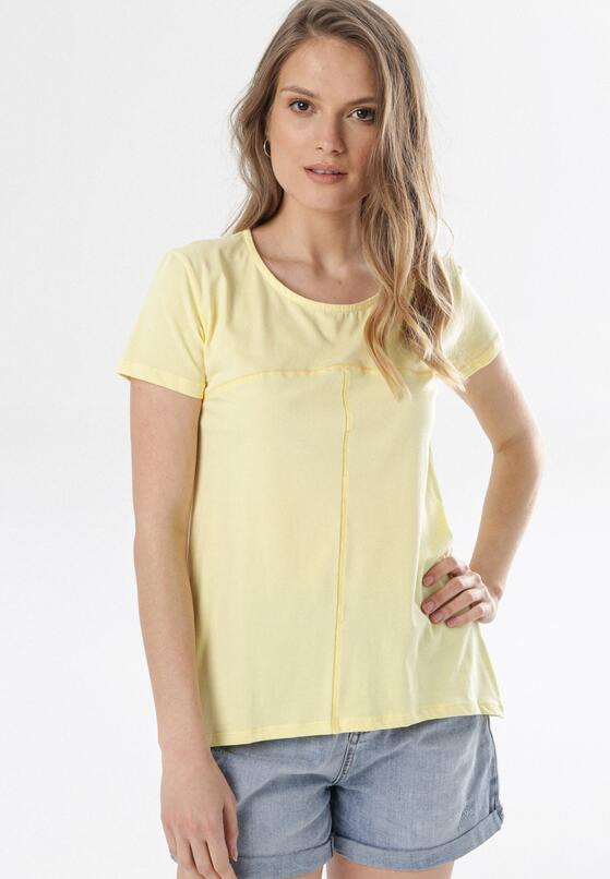 Jasnożółty T-shirt Assathea