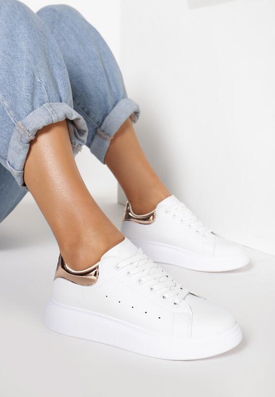 Biało-Szampańskie Sneakersy Neda