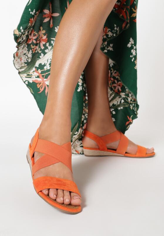 Pomarańczowe Sandały Eireve