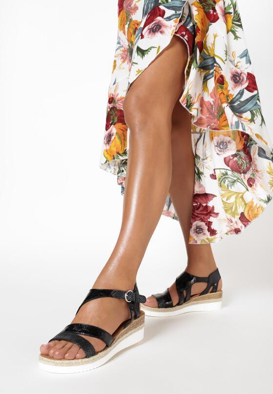 Czarne Sandały Serelise