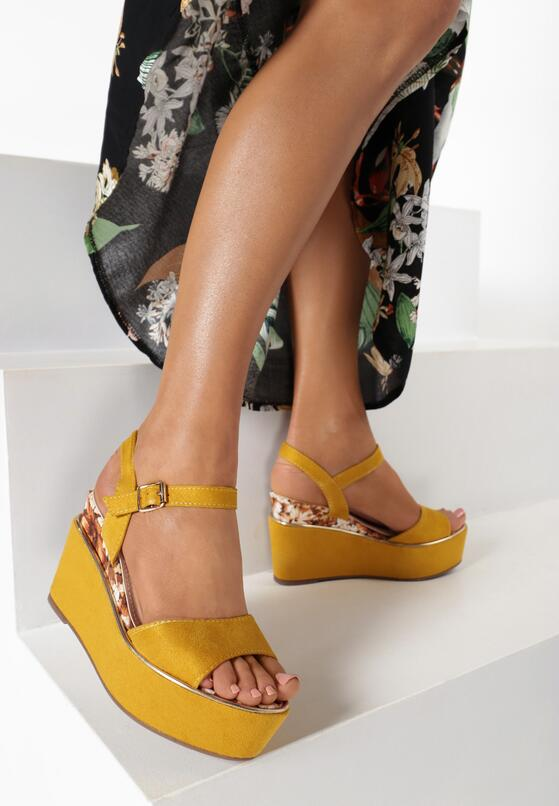 Żółte Sandały Genenore