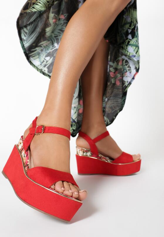 Czerwone Sandały Genenore