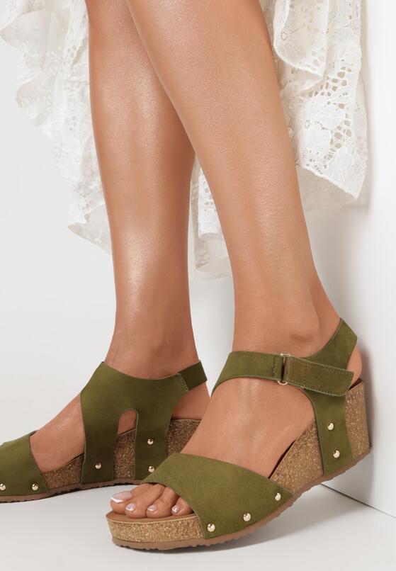 Khaki Sandały Eirely