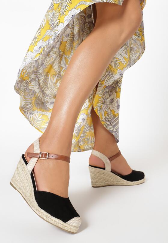 Czarne Sandały Laodanea