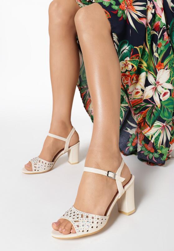 Beżowe Sandały Petomeni