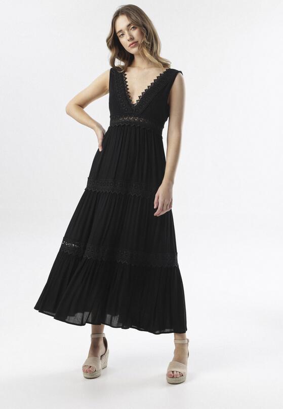 Czarna Sukienka Kahlidise