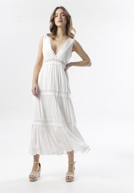 Biała Sukienka Kahlidise