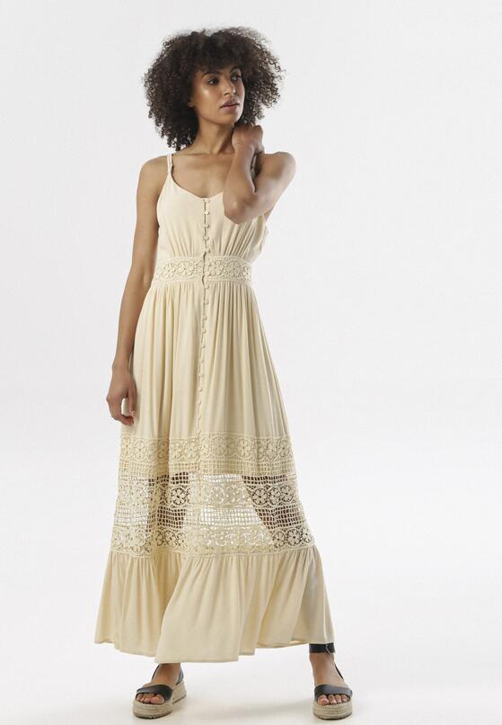Jasnobeżowa Sukienka Diolyea