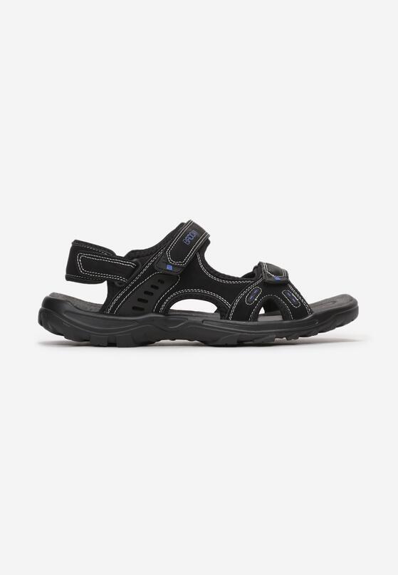Czarno-Niebieskie Sandały Ararianne