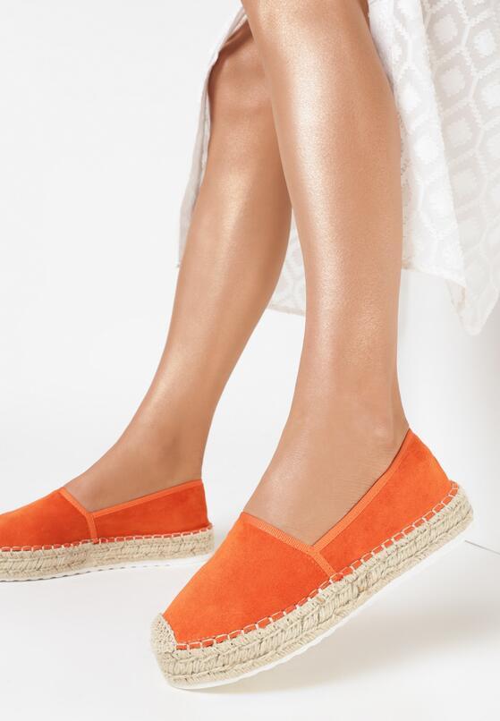 Pomarańczowe Espadryle Selfoss