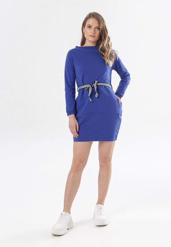 Ciemnoniebieska Sukienka Larainey