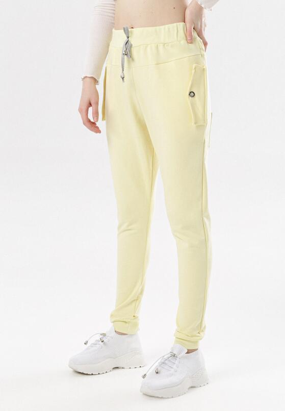Żółte Spodnie Dresowe Marilori