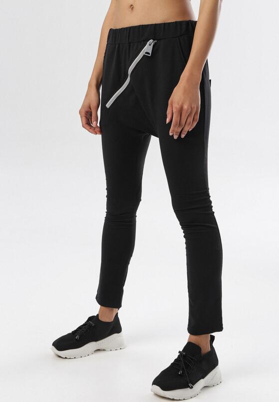 Czarne Spodnie Dresowe Adrealin