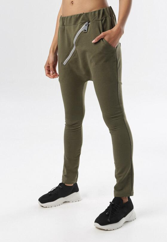 Khaki Spodnie Dresowe Adrealin
