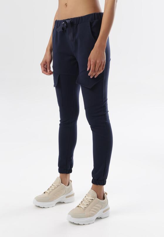 Granatowe Spodnie Dresowe Aelle