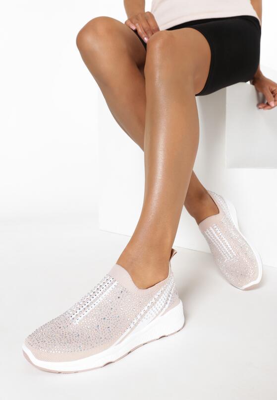 Beżowe Sneakersy Dorilirea