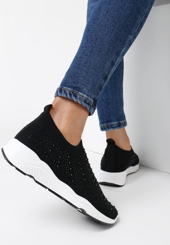 Czarne Sneakersy Acanos