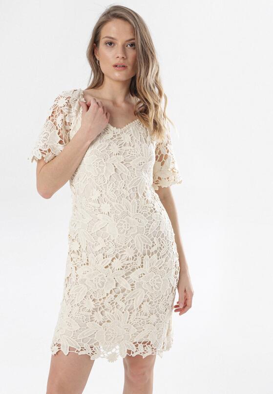Kremowa Sukienka Petipheme