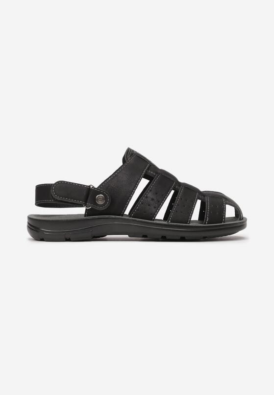 Czarne Sandały Dorypheu