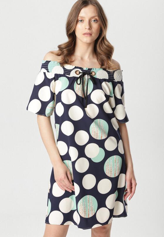 Granatowa Sukienka Meririan