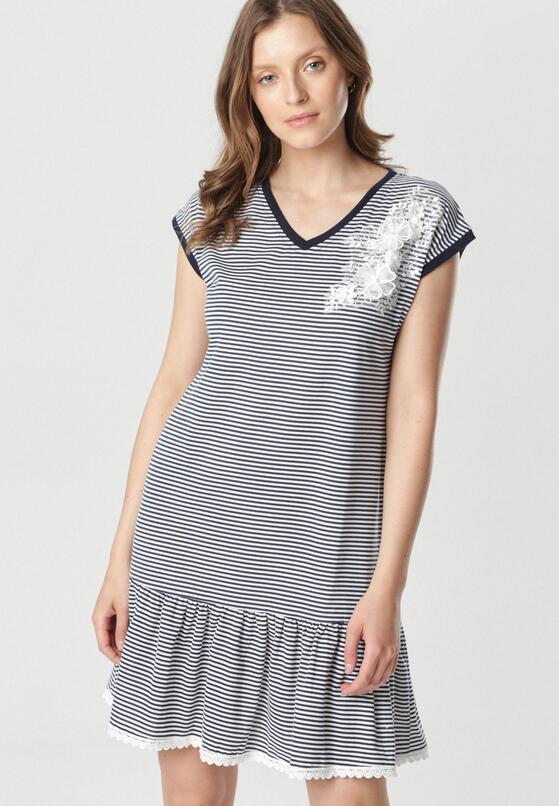 Biało-Granatowa Sukienka Jenninna