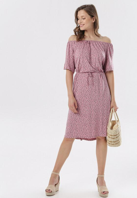 Różowa Sukienka Adrashell