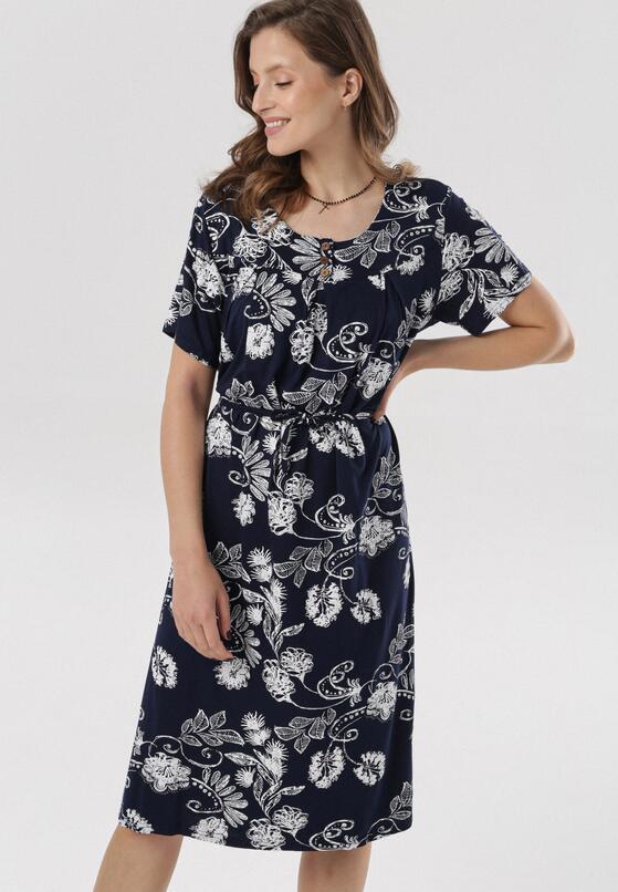 Granatowa Sukienka Laogoria
