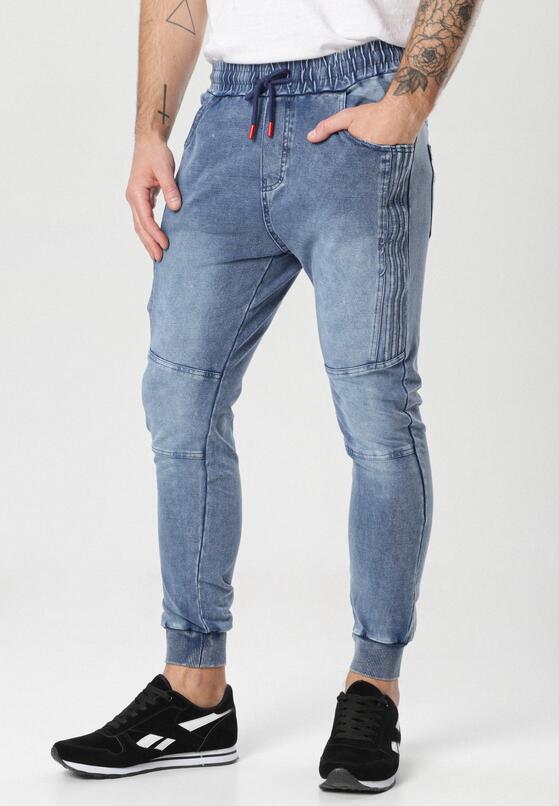 Granatowe Spodnie Pherorea