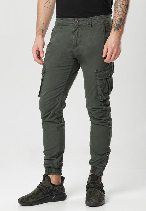Ciemnozielone Spodnie Kleodone