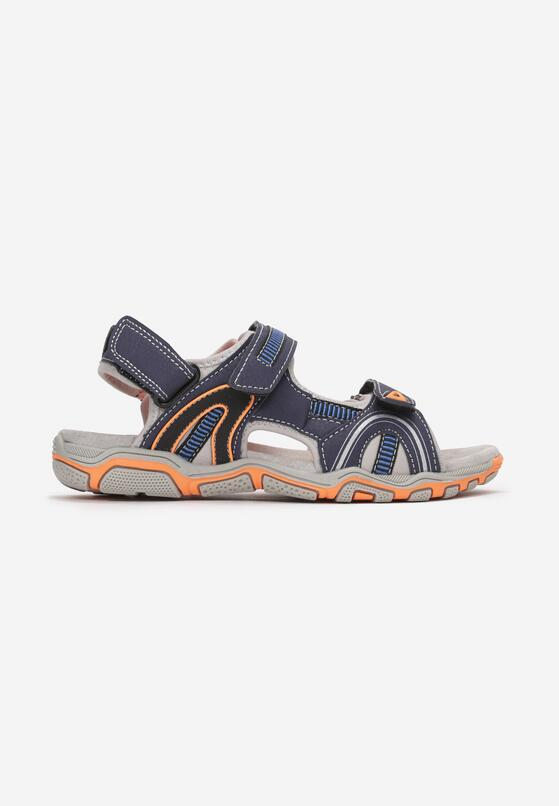 Granatowo-Pomarańczowe Sandały Corraegana