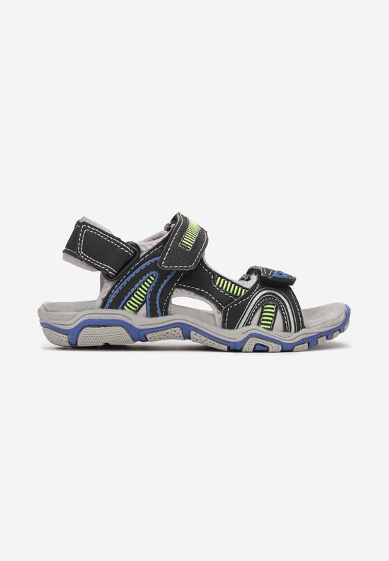 Czarno-Niebieskie Sandały Corranne