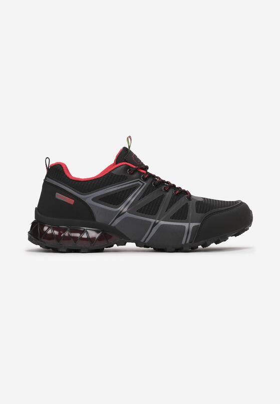 Czarno-Czerwone Buty Sportowe Talome