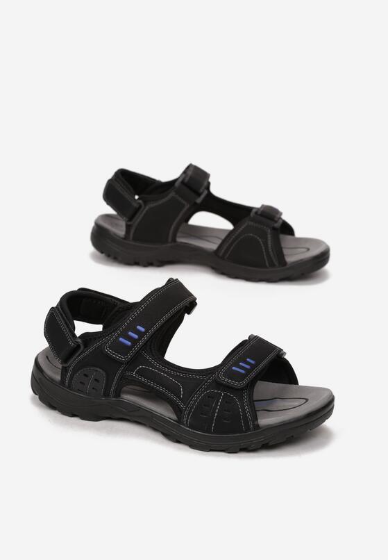 Czarno-Niebieskie Sandały Chalophi