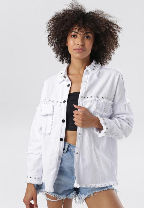 Biała Koszula Wierzchnia Assany