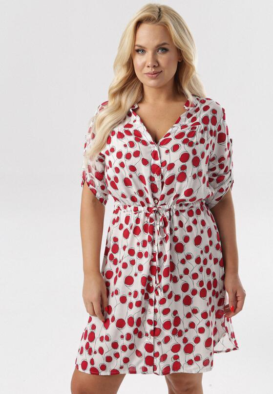 Biało-Fuksjowa Sukienka Aqealise