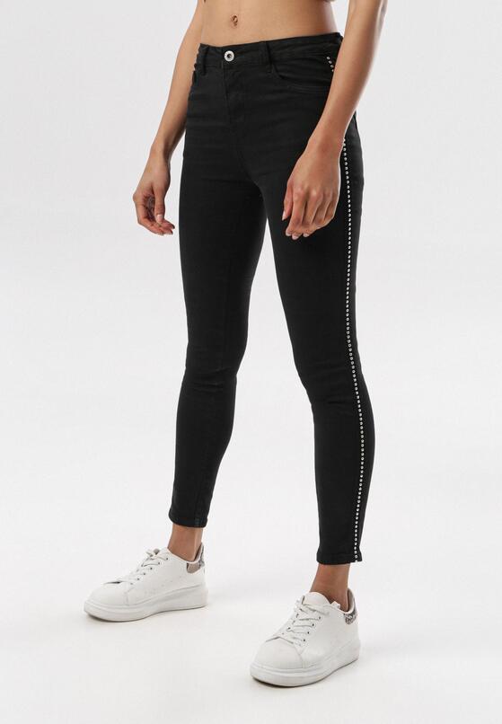 Czarne Spodnie Skinny Saphanea