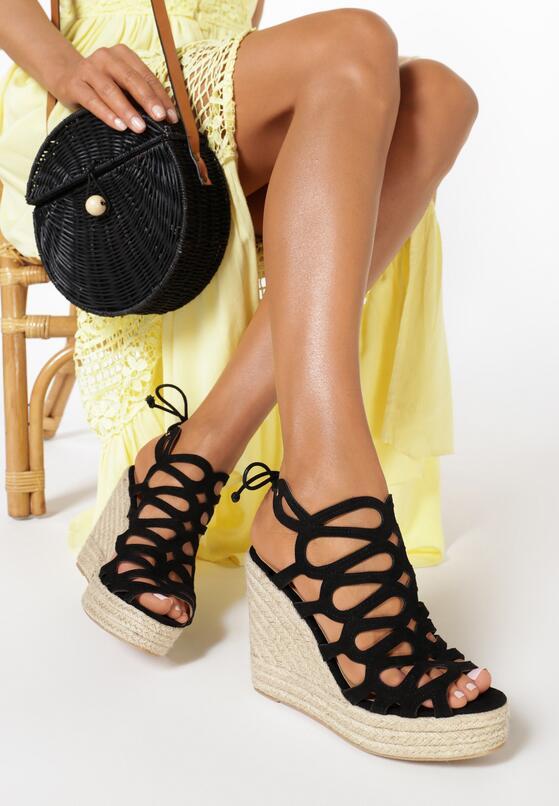 Czarne Sandały Echorissa