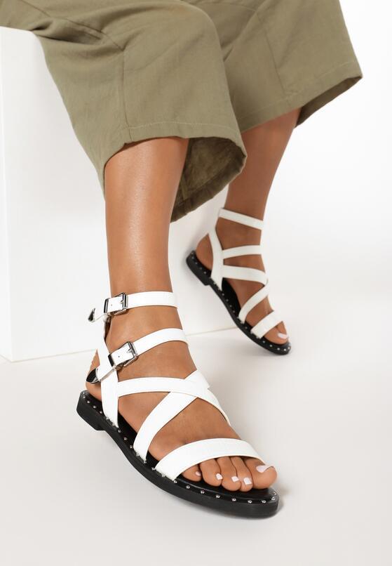 Białe Sandały Sagitta