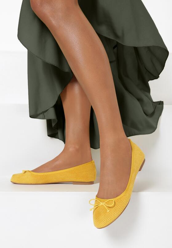 Żółte Balerinki Lorainah