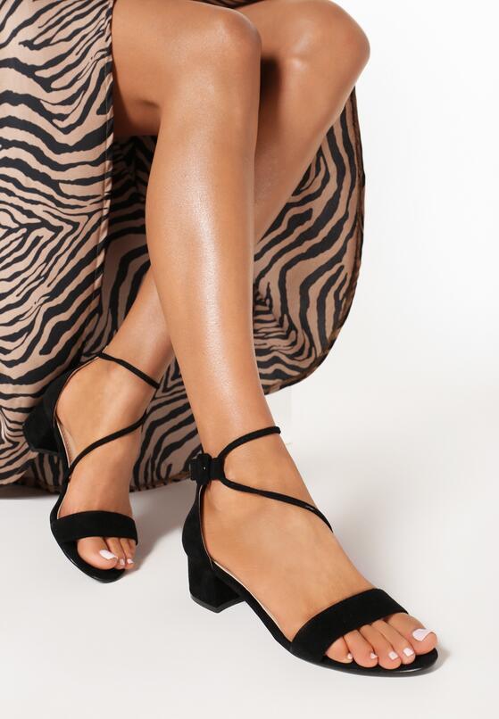 Czarne Sandały Coraeris