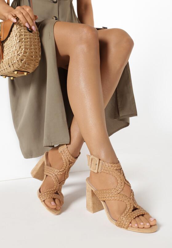 Beżowe Sandały Aethevianna