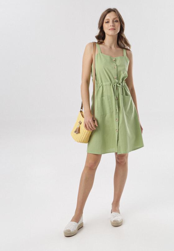 Jasnozielona Sukienka Adrielori