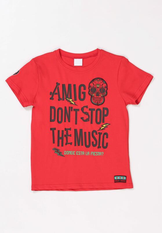 Czerwony T-shirt Orinea