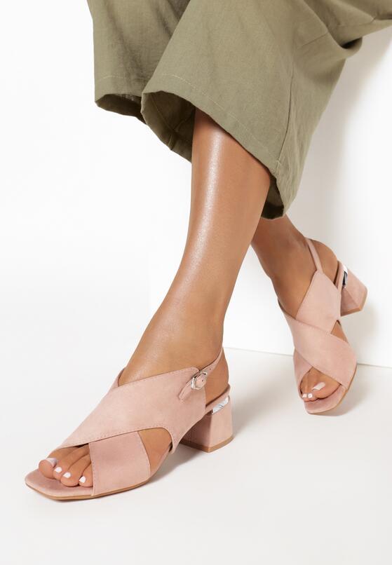 Różowe Pudrowe Sandały Delmatina