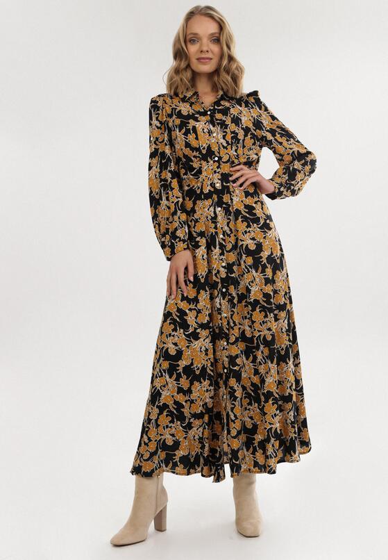 Czarno-Żółta Sukienka Raidella