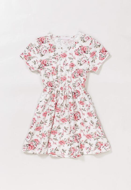 Biało-Różowa Sukienka Sireirinia