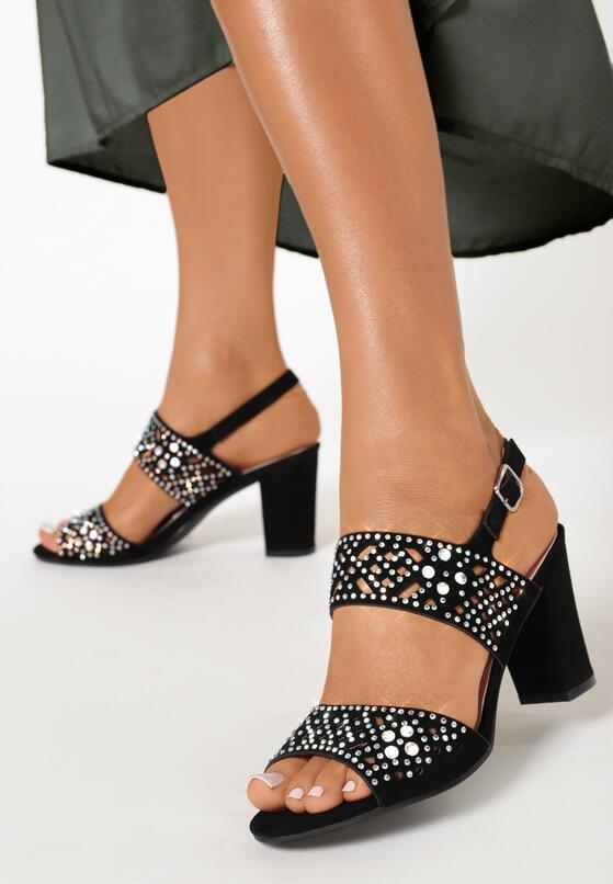 Czarne Sandały Dorianna