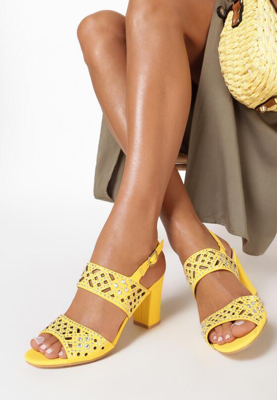 Żółte Sandały Dorianna