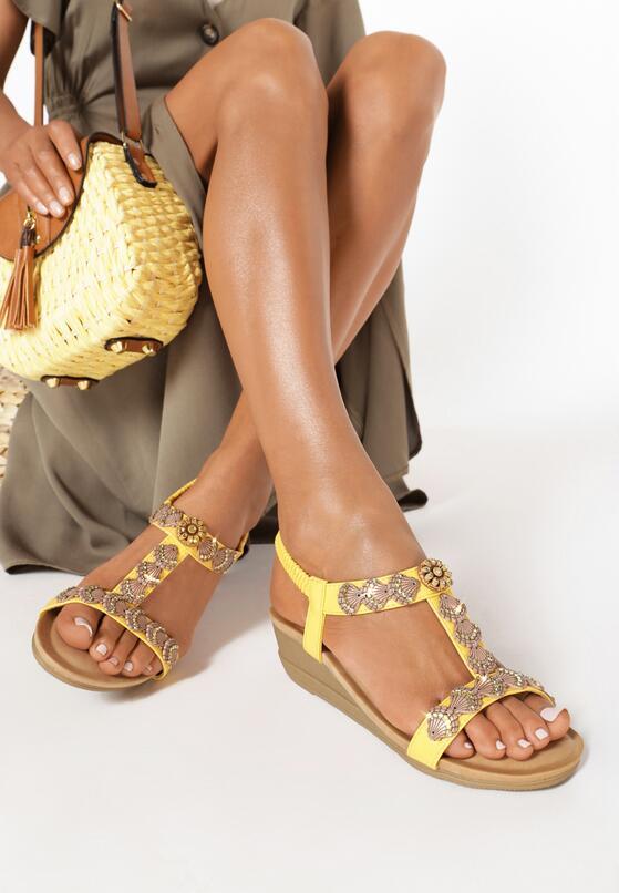 Żółte Sandały Wanda