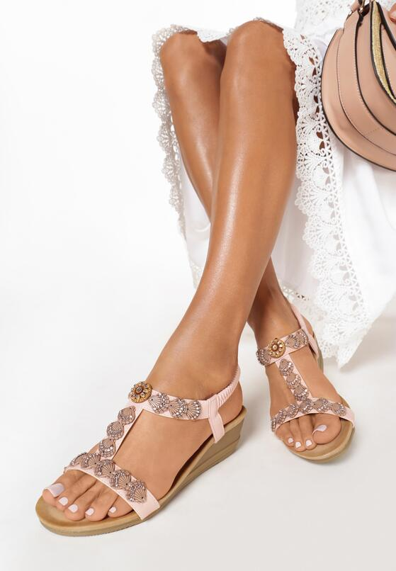 Różowe Sandały Wanda